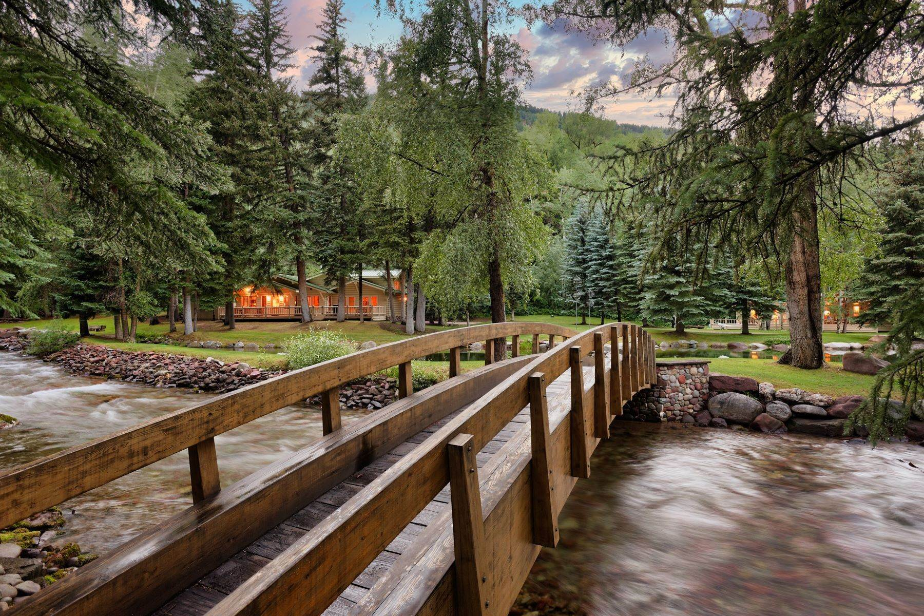 Single Family Homes for Sale at One-of-a-Kind Waterfront Retreat 202 Midnight Mine Road Aspen, Colorado 81611 United States
